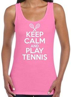 Tennis Gift Keep Calm and Play Tennis Juniors Tank Top (choice of colours) #tennisgifts
