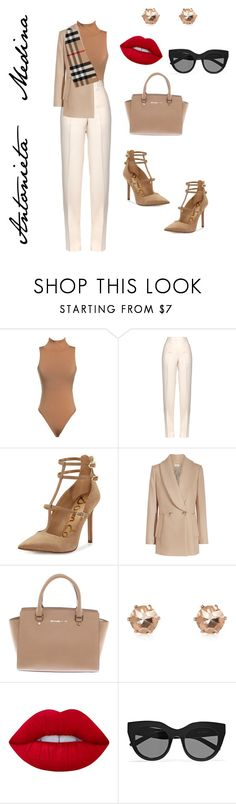 Untitled #261 by antoo-xoxo on Polyvore featuring Jil Sander, Sam Edelman, Michael Kors, River Island, Le Specs, Burberry and Lime Crime