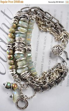 bracelet aquamarine bracelet artisan bracelet blue