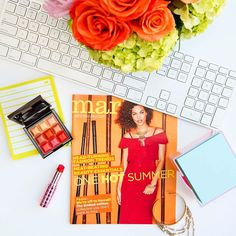 See this Instagram photo by @markgirl • #WhatsOnMyDesk this morning featuring Magalog 8! ❤️💋