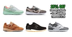 25% Off Saucony Originals (again) with Free Shipping Through 11/29, Get Code Here: