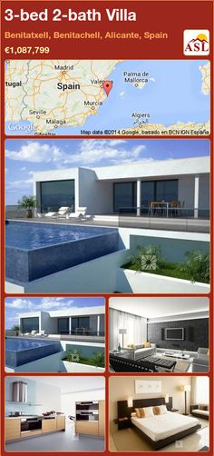 3-bed 2-bath Villa in Benitatxell, Benitachell, Alicante, Spain ►€1,087,799 #PropertyForSaleInSpain