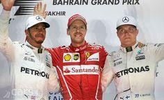Bahrain Grand Prix 2017 Podium,  Vettel, Hamilton & Bottas