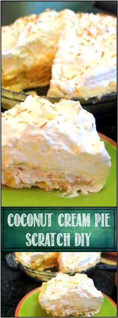 Coconut Cream Pie - Scratch DIY Recipe Custard Pies really are the best! Coconut Recipes, Tart Recipes, Sweet Recipes, Cooking Recipes, Coconut Cakes, Just Desserts, Delicious Desserts, Yummy Food, Toasted Coconut