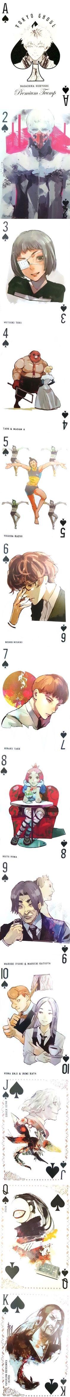 Tokyo Ghoul || Ishida Sui || Trump Cards || Spades Suit