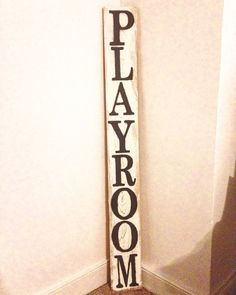 Rustic Playroom Decor Vertical Sign Playroom by WorryLessCraftMore