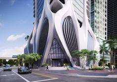Des créations de l'architecte Zaha Hadid --la seule femme à avoir eu, en 2004, le prix Pritzker – le « Nobel » d'architecture--, décédée à l'âge de 65 ans le 31 mars dernier.