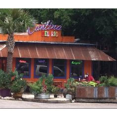 Craving Tex Mex? You've come to the right place. Cantina Del Rio serves yummy Mexican food with a Texas twist. They have everything from fajitas to burgers to tacos. Grab a cool drink or a margarita and sit out on the deck while you enjoy delicious food