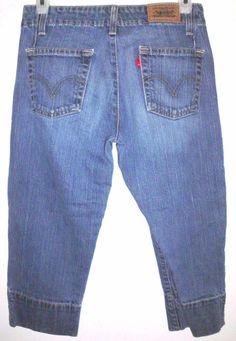 LEVI'S 515 Distressed Blue Stretch Denim Jean Capri Cropped Jeans Sz 2 Women's | Clothing, Shoes & Accessories, Women's Clothing, Jeans | eBay!