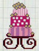 torta nuzziale, wedding cake - punto croce - cross Stitch - Kreuzstich - Punto de Cruz