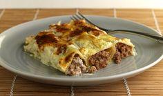 kanelonia me kima kai krema galaktos Lasagna, Kai, Beef, Cooking, Ethnic Recipes, Food, Meat, Kitchen, Essen