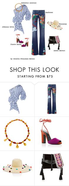 """""""Loulou"""" by orme ❤ liked on Polyvore featuring Johanna Ortiz, The Seafarer, Sabbadini, Pierre Hardy and Isabel Marant"""