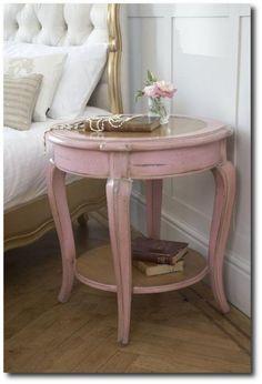 Soft Pink Painted Side Table- Visit amazingdish.info