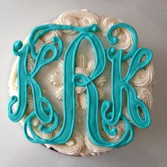 Love this cake monogram