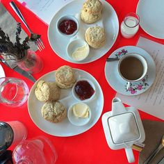 I've been craving scones and jam like crazy as of late. Scones And Jam, Like Crazy, Chocolate Fondue, Cravings, Yummy Food, Instagram Posts, Desserts, How To Make, Tailgate Desserts