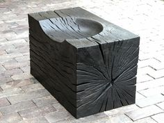 Using a monochrome palette of carved then burnt or bleached wood, Jim Partridge and Liz Walmsley paired up to produce some striking artworks.  Over the last twenty two years they have created installations and furniture for galleries, gardens and public spaces. Massive chunks of wood are hewn i ...