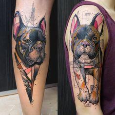 dog tattoos by elschwino