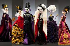 Chic Rumors: Le cattive dei cartoni animati Disney diventano bambole da collezione