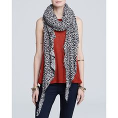 An accent mark of leopard lends a wildly cool layered look when you slip on Free People's jungle-inspired scarf. Cotton. Hand wash. Imported. Leopard print, un…