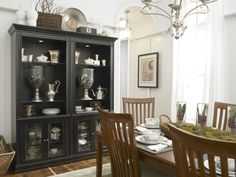 thomasville kitchen cabinets Dining Room Eclectic with basket black cabinet black