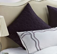 Bianca Adele Quilted European Pillowcase Purple