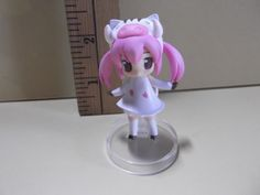 """#A110 Unknown Anime 2.5""""in Girl Pink Hair Dressed Up in White Boar Costume"""