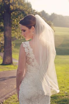 Country club sophistication . Hair by Ky & makeup by Barbara. // The Singular Bride