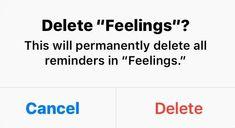 Delete feelings