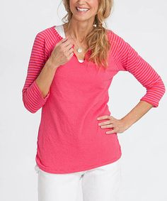 Another great find on #zulily! Barn Red Jacqueline Stripe Tee #zulilyfinds