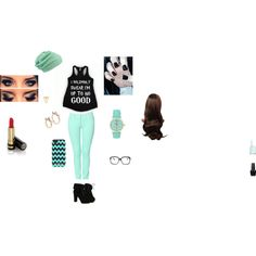 turquoise bad girl by rachel0706 on Polyvore featuring Kenzo, TURNOVER, Gorjana, Aéropostale, MANGO, Kate Spade, maurices, Gucci, OPI and Essie