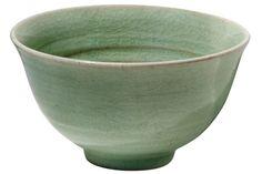 This is a Korean celadon tea bowl.
