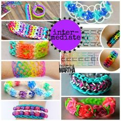 Personalized Photo Charms Compatible with Pandora Bracelets. 40 Rainbow Loom Tutorials and Ideas - Becoming Martha Rainbow Loom Tutorials, Rainbow Loom Patterns, Rainbow Loom Creations, Loom Bands Designs, Loom Band Patterns, Bracelet Patterns, Loom Love, Fun Loom, Rainbow Loom Bands
