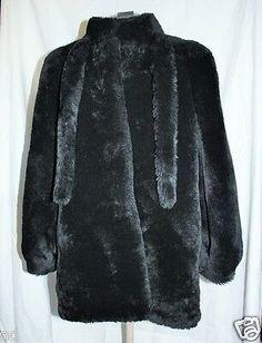 fur story Womens Lamb Fur Coat with Fur Collar Long Winter Fur Jacket 18135