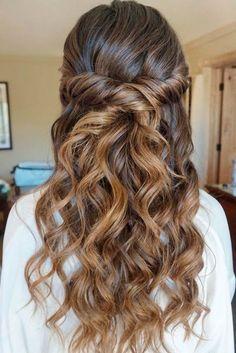 wedding hair styles wedding hair hair veils hair guest hair stylist hair idea hair styles for medium hair hair styles for long hair down Wedding Hair Down, Wedding Hair And Makeup, Prom Makeup, Dress Wedding, Prom Dress, Wedding Hairstyles For Long Hair, Up Hairstyles, Hairstyle Ideas, Hair Ideas