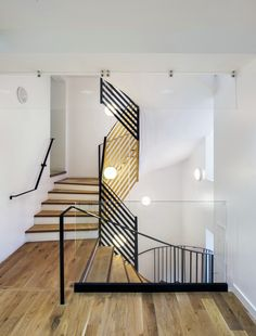 Image 12 of 24 from gallery of Refurbishment and Extension of the City Hall / Zoomfactor Architectes. Photograph by Martin Argyroglo Stairway To Heaven, Stairways, My Dream Home, Home Furniture, Architecture Design, Modern Design, Refurbishment, House Design, Interior Design