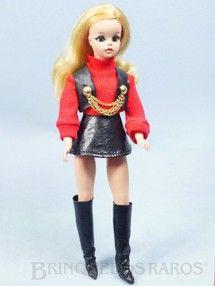 Brinquedos antigos - Estrela - Boneca Susi Série Susi faz Pose Cintura móvel Toda original Perfeito estado Completa Ano 1970