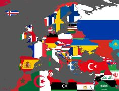 Current Flag (Vexillographical) Map of Europe