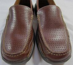 45c0547f5defbf HS-TRASK-Men-039-s-Perforated-Moccasin-Loafer-Driving-Shoe-Brown-Leather- Size-8-M
