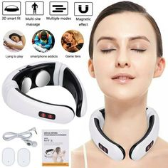 Pro Electric Cervical Neck Massager Body Shoulder Relax Massage Relieve Pain new #Unbranded Smart Pulse, Massage Machine, Shoulder Muscles, Neck Cream, Neck Massage, Types Of Rings, Neck Pain, Health And Beauty, Relax