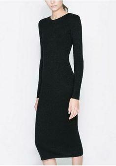Slim-fit Long Sleeve Dress