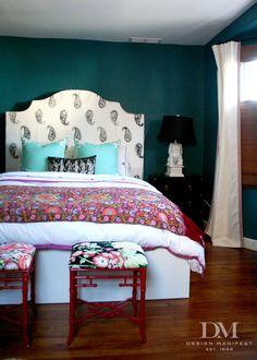 """Design Manifest's """"preppy bohemian"""" bedroom"""