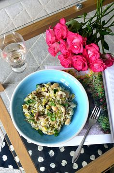 Easy Leek and Mushroom Risotto Risotto Rice, Mushroom Risotto, Spaghetti Hoops, How To Make Risotto, Beans On Toast, Veggie Pasta, Fresh Avocado, Butter Beans, Roast Dinner