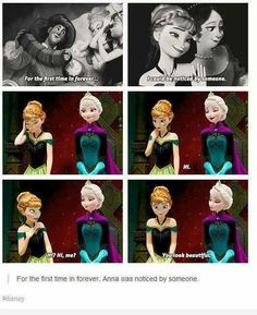 Why Frozen may be my favoritest of the Newer Disney movies Disney Facts, Disney Memes, Disney Love, Disney Magic, Disney Frozen, Disney Stuff, Elsa Frozen, Frozen Heart, Funny Disney