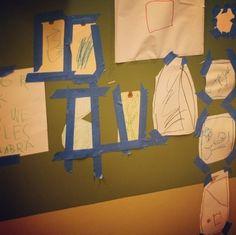 Children displaying their own work
