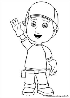 handy manny coloring picture - Handy Manny Hammer Coloring Pages