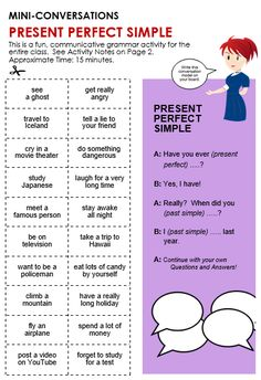 Quality ESL grammar worksheets, quizzes and games - from A to Z - for teachers & learners PRESENT PERFECT SIMPLE