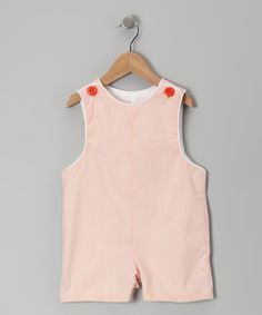 Orange Seersucker Shortalls - Infant & Toddler