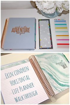 Erin Condren Life Planner, Rose Gold Horizontal