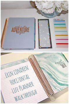 Erin Condren Life Planner, Rose Gold Horizontal