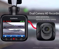 Brought to you by the kings of navigation, Garmin now wants to help you fight all those insurance frauds that are going around. With the Garmin Dashboard Camera Recorder you have everything on tape. The camera supports up to 32 GB SDHC microSD card, but that's enough to capture over 38 hours of video. It attaches very neatly on your windshield so it has the perfect view of the front of your car. It has some pretty cool features, for example ..